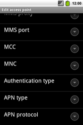 Alcatel OT-991 Smart - MMS - Manual configuration - Step 12
