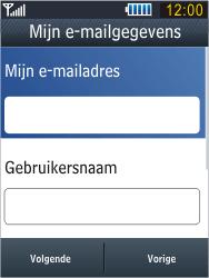 Samsung B3410 Star Qwerty - E-mail - e-mail instellen: POP3 - Stap 12