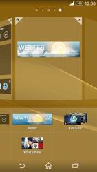 Sony Xperia Z3 - Startanleitung - Installieren von Widgets und Apps auf der Startseite - Schritt 7