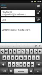 Sony LT26i Xperia S - E-mail - E-mail versturen - Stap 8