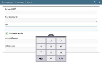 Samsung T535 Galaxy Tab 4 10.1 - E-mail - configuration manuelle - Étape 13