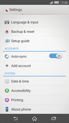 Sony Xperia Z2 - Software - Installing software updates - Step 5