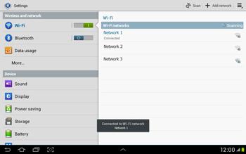 Samsung Galaxy Tab 2 10.1 - WiFi - WiFi configuration - Step 7