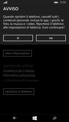 Microsoft Lumia 535 - Dispositivo - Ripristino delle impostazioni originali - Fase 7