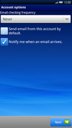Sony Xperia X10 - E-mail - Manual configuration - Step 10