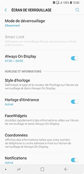 Samsung Galaxy A7 2018 - Sécuriser votre mobile - Activer le code de verrouillage - Étape 5