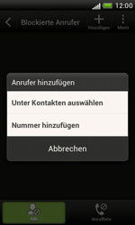 HTC T328e Desire X - Anrufe - Anrufe blockieren - Schritt 5