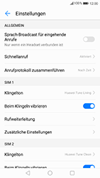 Huawei P10 Lite - Anrufe - Rufumleitungen setzen und löschen - Schritt 5