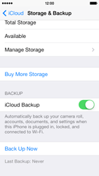 Apple iPhone 5s - Applications - configuring the Apple iCloud Service - Step 14