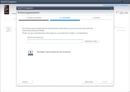 Sony Xperia Z1 Compact - Software - Eine Sicherungskopie des Geräts erstellen - Schritt 7