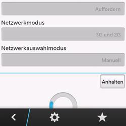 BlackBerry Q10 - Netzwerk - Manuelle Netzwerkwahl - Schritt 8