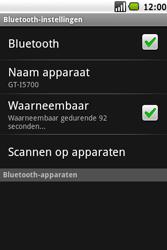 Samsung I5700 Galaxy Spica - bluetooth - aanzetten - stap 6