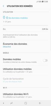 Samsung Galaxy S8 Plus - Android Oreo - Internet et roaming de données - Comment vérifier que la connexion des données est activée - Étape 6