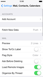 Apple iPhone 5 iOS 7 - E-mail - manual configuration - Step 8