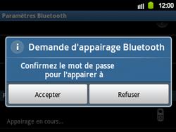Samsung B5510 Galaxy TXT - Bluetooth - connexion Bluetooth - Étape 11