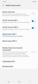 Samsung Galaxy S20 Plus 5G - Netzwerk - So aktivieren Sie eine 5G-Verbindung - Schritt 6