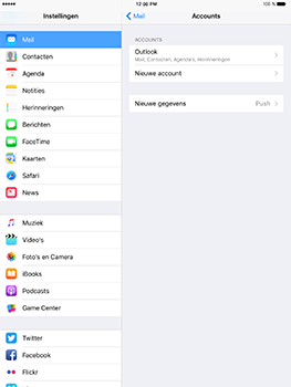 Apple iPad mini 4 iOS 10 - E-mail - Handmatig instellen (outlook) - Stap 10