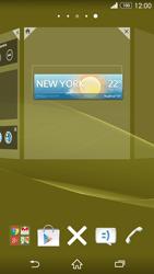 Sony Xperia Z3 - Operazioni iniziali - Installazione di widget e applicazioni nella schermata iniziale - Fase 6