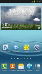Samsung Galaxy S III - Getting started - Installing widgets and applications on your start screen - Step 7