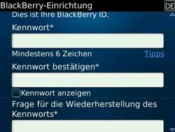 BlackBerry Bold - Apps - Konto anlegen und einrichten - 12 / 19