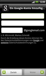 HTC Sensation XL - Apps - Konto anlegen und einrichten - 6 / 18