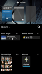 HTC One - Getting started - Installing widgets and applications on your start screen - Step 5