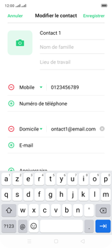 Oppo A9 2020 - Contact, Appels, SMS/MMS - Ajouter un contact - Étape 11