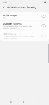 Samsung Galaxy Note 10 Plus 5G - WiFi - So aktivieren Sie einen WLAN-Hotspot - Schritt 6