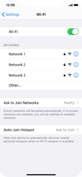 Apple iPhone X - iOS 14 - WiFi - WiFi configuration - Step 5