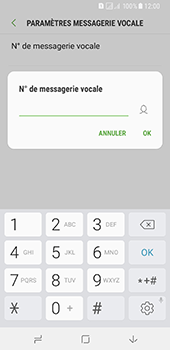 Samsung Galaxy A8 (2018) - Messagerie vocale - Configuration manuelle - Étape 11