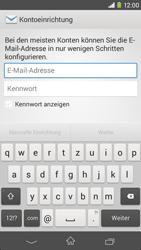 Sony Xperia M2 - E-Mail - Konto einrichten - 1 / 1