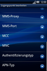 Sony Ericsson Xperia X8 - MMS - Manuelle Konfiguration - 13 / 17