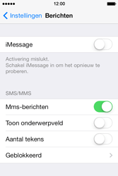 Apple iPhone 4 iOS 7 - MMS - handmatig instellen - Stap 11