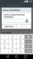 LG Leon - Anrufe - Rufumleitungen setzen und löschen - Schritt 7
