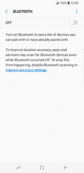 Samsung Galaxy S8 - Bluetooth - Connecting devices - Step 6