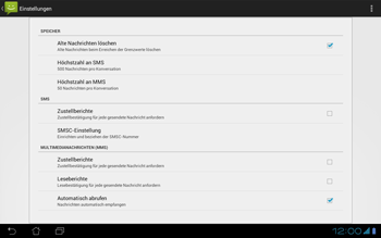Asus Padfone - SMS - Manuelle Konfiguration - Schritt 6