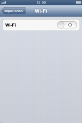Apple iPhone 4 - WiFi - Configurazione WiFi - Fase 4