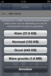 Apple iPhone 4 (iOS 6) - e-mail - hoe te versturen - stap 13