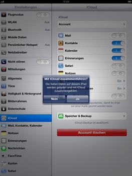 Apple iPad Retina iOS 7 - Apps - Konfigurieren des Apple iCloud-Dienstes - Schritt 8