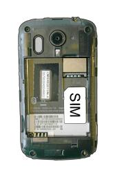 HTC A310e Explorer - SIM-Karte - Einlegen - Schritt 3