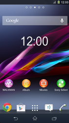 Sony Xperia Z1 - Getting started - Installing widgets and applications on your start screen - Step 1