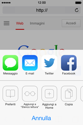 Apple iPhone 4S iOS 7 - Internet e roaming dati - uso di Internet - Fase 6