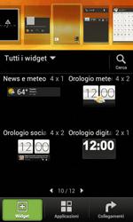HTC Desire X - Operazioni iniziali - Installazione di widget e applicazioni nella schermata iniziale - Fase 4