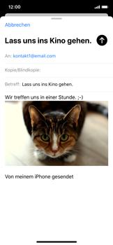 Apple iPhone X - iOS 13 - E-Mail - E-Mail versenden - Schritt 15
