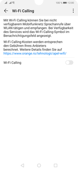 Huawei P30 - WiFi - WiFi Calling aktivieren - Schritt 7