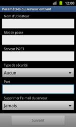 Samsung I8530 Galaxy Beam - E-mail - Configuration manuelle - Étape 7