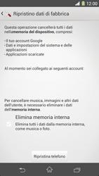 Sony Xperia Z1 - Dispositivo - Ripristino delle impostazioni originali - Fase 7