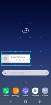 Samsung Galaxy S8 - Operazioni iniziali - Installazione di widget e applicazioni nella schermata iniziale - Fase 7