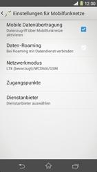 Sony Xperia Z1 - Netzwerk - Netzwerkeinstellungen ändern - 6 / 8