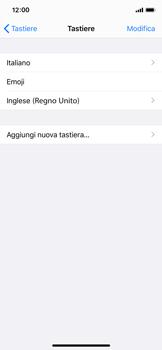 Apple iPhone X - iOS 13 - Operazioni iniziali - Come aggiungere una lingua alla tastiera - Fase 8